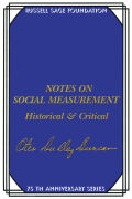 Notes on Social Measurement Cover