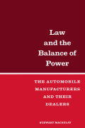 Law and the Balance of Power: The Automobile Manufacturers and their Dealers