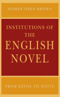 Institutions of the English Novel Cover