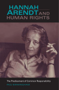 Hannah Arendt and Human Rights Cover