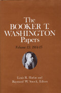 Booker T. Washington Papers Volume 13 Cover