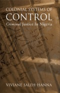 Colonial Systems of Control cover