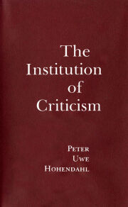The Institution of Criticism