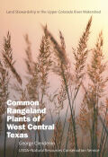 Common Rangeland Plants of West Central Texas Cover