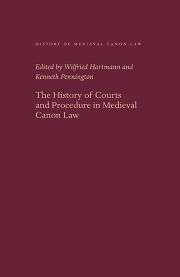 The History of Courts and Procedure in Medieval Canon Law