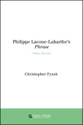 Philippe Lacoue-Labarthe's Phrase: Infancy, Survival
