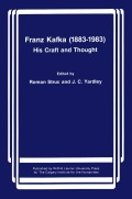 Franz Kafka (1883-1983): His Craft and Thought