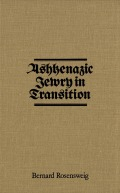 Ashkenazic Jewry in Transition Cover