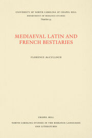 Medieval Latin and French Bestiaries