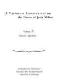 A Variorum Commentary on the Poems of John Milton