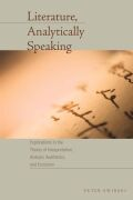 Literature, Analytically Speaking Cover