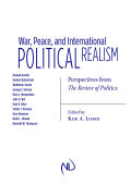 War, Peace, and International Political Realism