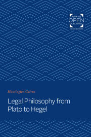 Legal Philosophy from Plato to Hegel