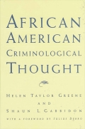 African American Criminological Thought Cover