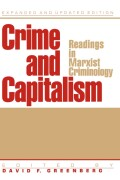 Crime And Capitalism: Readings in Marxist Crimonology Cover