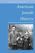 <i>Case Closed: Holocaust Survivors in Postwar America</i> (review)
