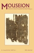 <i>Publius Papinius Statius, The</i> Thebaid: <i>Seven against Thebes</i> (review)