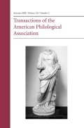 Narratology and Linguistics: An Interdisciplinary Perspective on Homeric Speech Representation