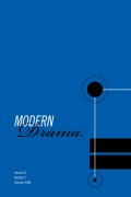 <i>A Companion to Modern British and Irish Drama 1880-2005</i> (review)
