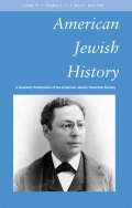 <i>White Ethnic New York: Jews, Catholics and the Shaping of Postwar Politics</i> (review)