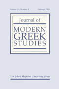 <i>The Enlightenment as Social Criticism: Iosipos Moisiodax and Greek Culture in the Eighteenth Century</i> (review)