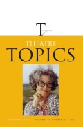 Writing as Performance: Using Performance Theory to Teach Writing in Theatre Classrooms