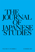 The Journal of Japanese Studies cover
