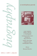 <i>Living Autobiographically: How We Create Identity in Narrative</i> (review)