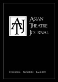<i>The Poetics of Difference and Displacement:Twentieth-Century Chinese-Western Intercultural Theatre</i> (review)