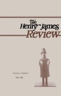 <i>Eurydice Reclaimed: Language, Gender & Voice in Henry James</i> (review)