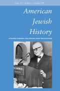 <i>We Remember with Reverence and Love: American Jews and the Myth of Silence after the Holocaust</i> (review)