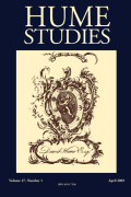 <i>Society and Sentiment: Genres of Historical Writing in Britain, 1740-1820</i> (review)