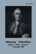 Hume on Tranquillizing the Passions