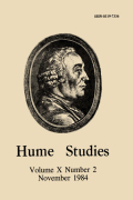 The Hume Literature for 1982
