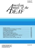 Teachers' Ratings of Deaf Children: An American-Danish Comparison