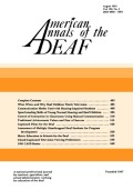 Speechreading Skills of Young Normal Hearing and Deaf Children
