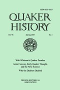 Anne Conway, Early Quaker Thought, and the New Science