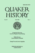 <i>A Biographical Dictionary of Irish Quakers</i> (review)