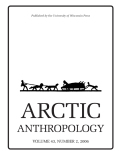 Arctic Anthropology cover