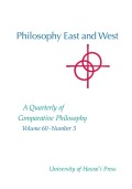 Philosophy East and West cover
