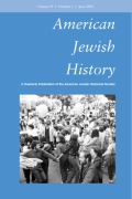 <i>Still Jewish: A History of Women and Intermarriage in America</i> (review)