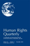 <i>Advocating Dignity: Human Rights Mobilizations in Global Politics</i> (review)
