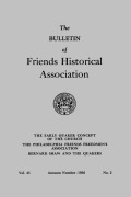 """Successors of Woolman and Benezet"": The Beginnings of the Philadelphia Friends Freedmen's Association"