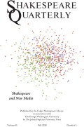 Networks of Deep Impression: Shakespeare and the History of Information