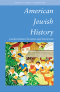 <i>Speaking of Jews: Rabbis, Intellectuals, and the Creation of an American Public Identity</i> (review)