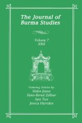 Journal of Burma Studies cover