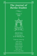 Professor U Pe Maung Tin (1888-1973): The Life and Work of an Outstanding Burmese Scholar