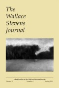Deleuzian Underpinnings: The Affective Emergence of Stevens' Concept of a Supreme Fiction