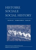"The Bruce Report and Social Welfare Leadership in the Politics of Toronto's ""Slums"", 1934–1939"