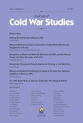 <i>Upstaging the Cold War: American Dissent and Cultural Diplomacy, 1940–1960</i> (review)